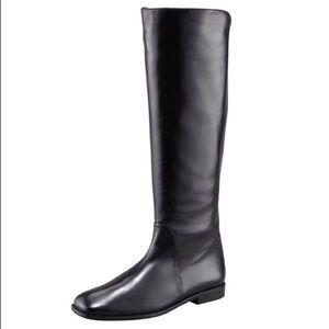 Stuart Weitzman Backstage Back-Zip Leather Boot